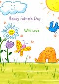 Father's Day Card-Smiling Faces